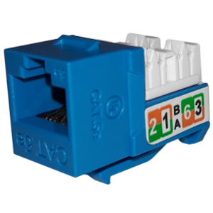 102710BL - APEX CAT5e - RJ45 - Punch Down Keystone Jack Insert - Blue