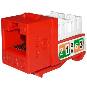 102710RD - APEX CAT5e - RJ45 - Punch Down Keystone Jack Insert - Red