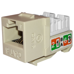 102720IV - APEX CAT6 - RJ45 - Punch Down Keystone Jack Insert - Ivory