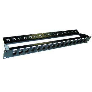 103024S - 24-Port Blank Keystone Patch Panel with Cable Management Support Bar