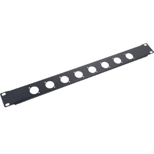 103180-8 - 8-Hole Chassis Mount Audio Rack Panel - 1U