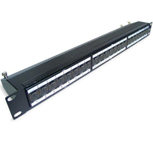 103824-AS - CAT6A 24-Port Shielded Patch Panel