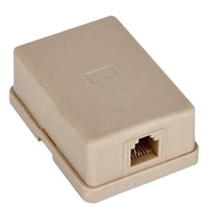 106420IV - 1-Port RJ11 6P4C Telephone Surface Mount Box - Ivory