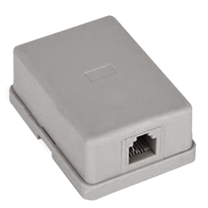 106420WH - 1-Port RJ11 6P4C Telephone Surface Mount Box - White