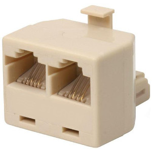 106959IV - Telephone Line Splitter - 1 Male x 2 Females
