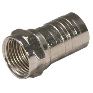 108101MX - RG6 - Standard One Piece Crimp-On F Connector - Male