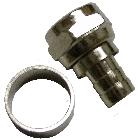 108102M - RG6 - 2 Piece Crimp-On F Connector - Male