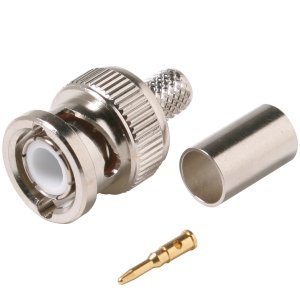 108153M - RG6 - 3 Piece BNC Crimp-On Connector - Male