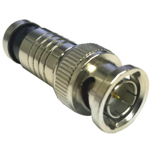 108157M - RG6 - BNC Compression Connector - Waterproof - Male