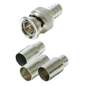 108172M-T - RG59 or RG6 - 2 Piece Crimp-On BNC Connector - Male