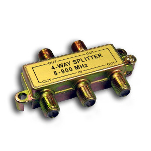 108614 - 4-Way Coax Splitter - 5-900Mhz