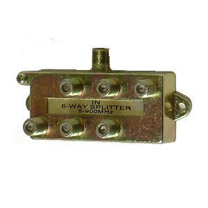 108616 - 6-Way Coax Splitter - 5-900Mhz