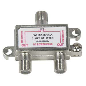 108632 - 2-Way Coax Splitter - 2.5GHz w/DC Power Pass
