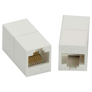 108900WH - Certified CAT5e Patch Cable Coupler