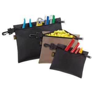 109513 - Custom LeatherCraft (CLC) - 3 Multi-Purpose Clip-on Zippered Bags