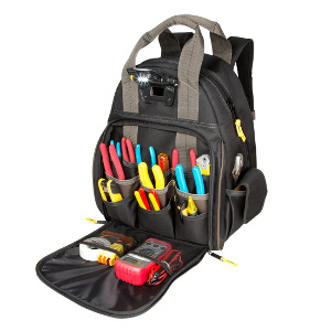 109563 - Custom LeatherCraft (CLC) - TECH GEAR� 53 POCKET - LIGHTED BACKPACK
