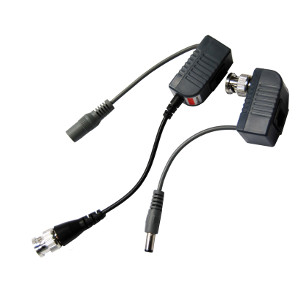 111328 - BNC Pigtail Video Baluns with Power (Pair) - CCTV over UTP Cable