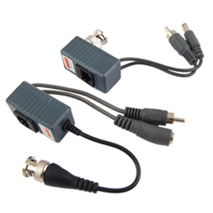 111333 - BNC Video Baluns with Power and Audio (Pair) - CCTV over UTP Cable
