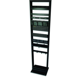 "120010BK - 7ft - 19"" 2-Post Network Relay Rack - 45U"