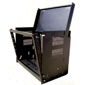 120040BK - 8U - Wall Mount Drop Front Cabinet Rack
