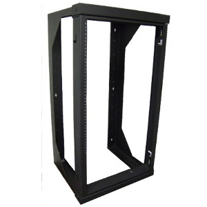 "120048BK - Wall Mount Swing Out Rack - 18"" Deep - 12U"