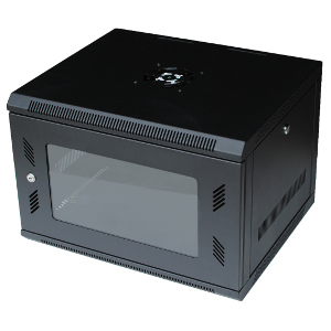 "120053GX - 6U Wall Mount Cabinet Rack w/Locking Glass Door & Cooling Fan - 18"" Deep (Fully Assembled)"