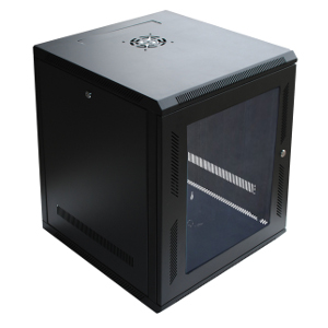 "120057GX - 12U Wall Mount Cabinet Rack w/Locking Glass Door & Cooling Fan - 24"" Deep (Fully Assembled)"