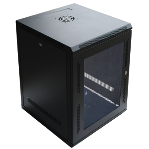 "120058GX - 15U Wall Mount Cabinet Rack w/Locking Glass Door & Cooling Fan - 24"" Deep (Fully Assembled)"