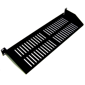 "120160 - 19"" Low Profile Vented Rack Shelf (1.5mm)  - 6"" Depth - 1U (1.75"")"