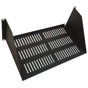 "120164V - 19"" Heavy Duty Vented Utility Rack Shelf (1.5mm) - 10"" Depth - 4U (7"")"