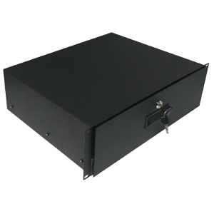 "120253BK - 19"" Heavy Duty Rack Drawer w/Lock and Key - 3U (5.25"")"