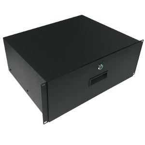 "120244BK - 19"" Rack Drawer w/Lock and Key - 4U (7"")"