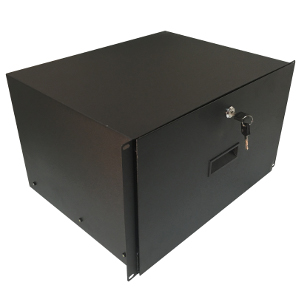 "120246BK - 19"" Rack Drawer w/Lock and Key - 6U (10.5"")"