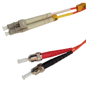 162207/10M - ST-LC Multimode Duplex Fiber Optic Jumper - 62.5/125 - 10 Meter