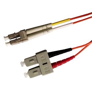 162208/10M - SC-LC Multimode Duplex Fiber Optic Jumper - 62.5/125 - 10 Meter