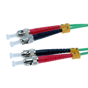 162231/10M - ST-ST 10 Gigabit OM3 Multimode Duplex Fiber Optic Jumper - 50/125 - 10 Meter