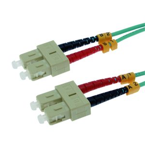 162233/10M - SC-SC 10 Gigabit OM3 Multimode Duplex Fiber Optic Jumper - 50/125 - 10 Meter