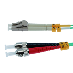 162237/10M - ST-LC 10 Gigabit OM3 Multimode Duplex Fiber Optic Jumper - 50/125 - 10 Meter