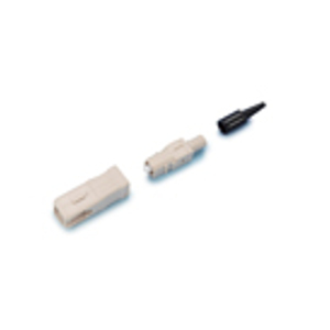 162413 - SC Connector, Multimode, Crimp, for 0.9mm Cable, Ivory Housing, Black