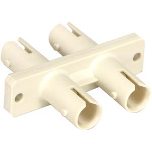 162509 - ST to ST, Duplex, Multimode, Phosphor Bronze Sleeve, Flange Type, Beige