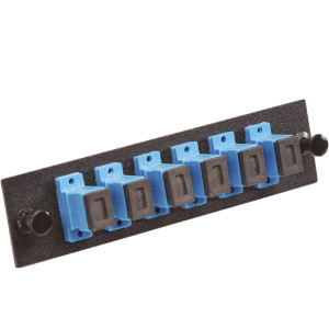 163108BK - Singlemode SC - 6 Connector Panel for Fiber Optic Distribution Enclosures