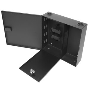 163164 - Fiber Wall Mount Distribution Enclosure - Holds 4 Panels, 2 Doors