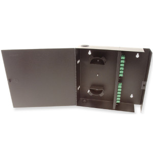 163169 - Fiber Wall Mount Distribution Enclosure - Holds 4 Panels, 1 Door