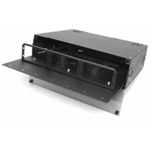 163184R - Fiber Rack Mount Distribution Enclosure w/Slide Out Door - Holds 6 Panels, 3U