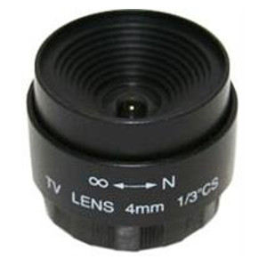 "245834 - CS Mount Camera Lens - Fixed IRIS - Fixed Focal - 1/3"", 4mm, F1.6"