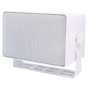 "246625WH - 4"" 3-Way Indoor/Outdoor All-Purpose Speaker with  70/25V Transformer - White (Sold Individually)"