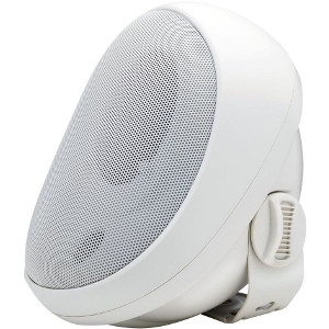 "246648WH - 4"" Enclosed Weather-Resistant Indoor/Outdoor Speaker - White (Sold as a Pair)"
