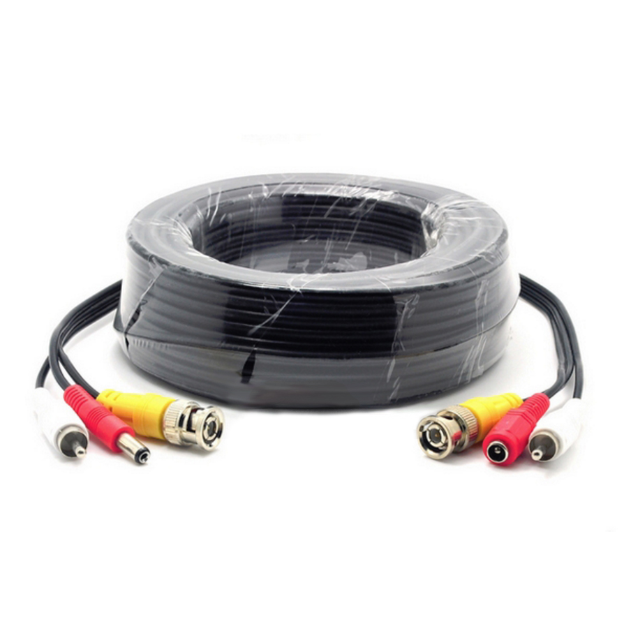 270092/10M - Composite Coax BNC Video, RCA Audio, & DC Power Cable - 10M