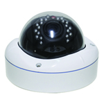 "2DVI7684V-WH - 5"" IR Dome Camera - I/O - Vandal Proof - 1200TVL - 2.8-12mm Varifocal Lens"