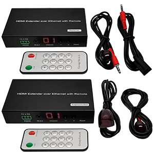 301022-KIT - H.264 HDMI Extender over IP Kit with LED and Remote - Up to 120M (One Transmitter + One Receiver)
